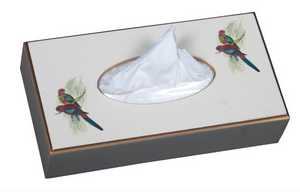 Rectangular Tissue Box Cover: Pair of Parrots