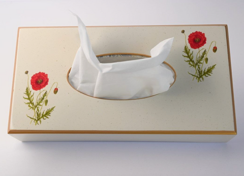 Rectangular Tissue Box Cover: Poppy