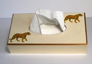 Rectangular Tissue Box: Tiger