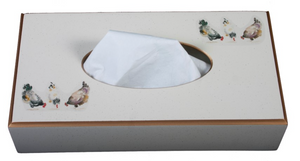 Rectangular Tissue Box: Chickens