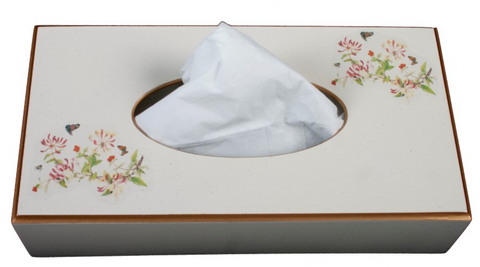 Rectangular Tissue Box: Honeysuckle
