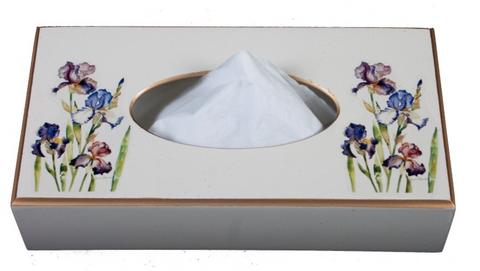 Rectangular Tissue Box: Iris