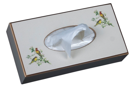 Rectangular Tissue Box: Oriental Songbirds