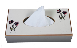 Rectangular Tissue Box: Parrot Tulip
