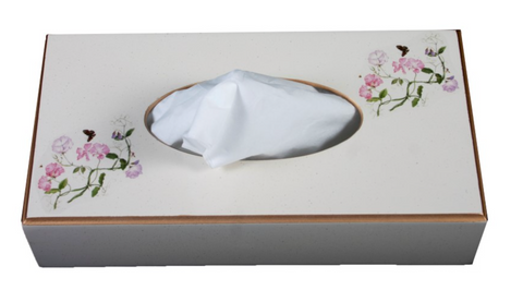 Rectangular Tissue Box: Sweet Pea