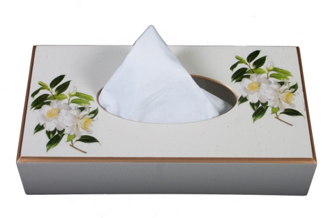 Rectangular Tissue Box cover: Camellia