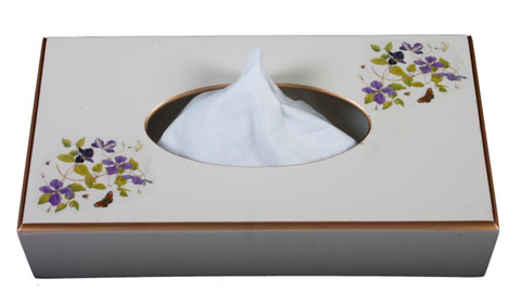 Rectangular Tissue Box cover: Clematis