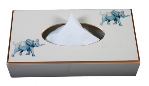 Rectangular Tissue Box cover: Elephant