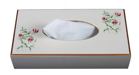 Rectangular Tissue Box cover: Flame Lily
