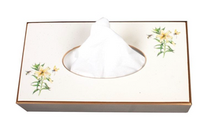 Rectangular Tissue Box cover: Japanese Lily