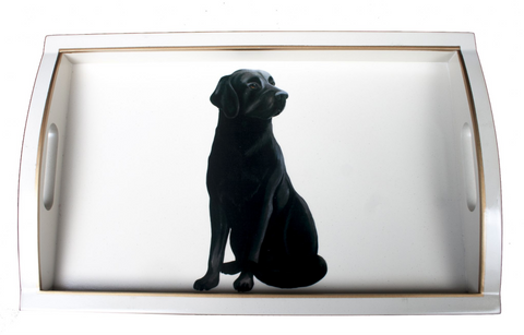 Rectangular Wooden Tray: Labrador