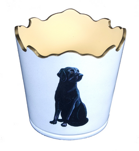 Scalloped Top Cachepot/Decorative Planter: Labrador