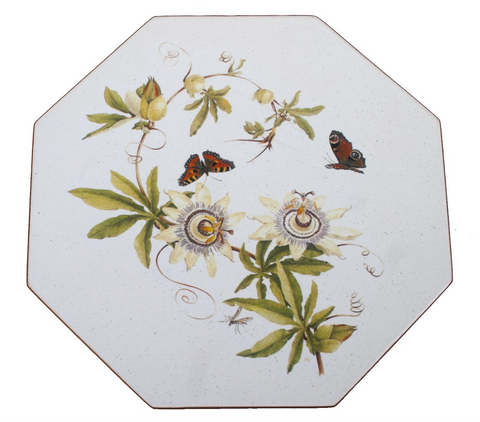 Octagonal Placemats Set of 4 (boxed): Passion Flower