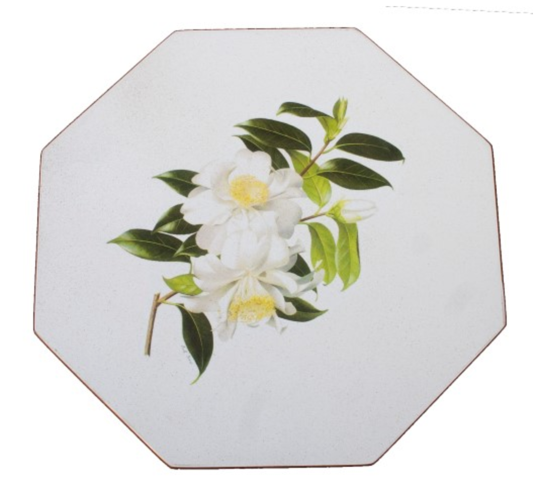 Octagonal Tablemats Set of 4 (boxed): Camellia