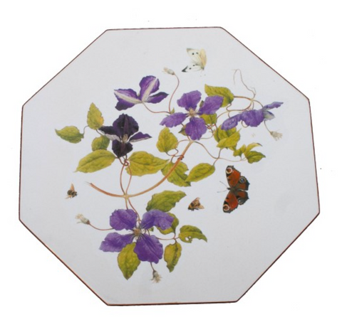 Octagonal Tablemats Set of 4 (boxed): Clematis