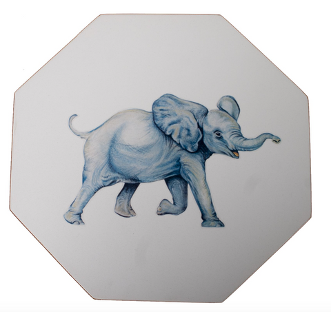 Octagonal Tablemats Set of 4 (boxed): Elephant