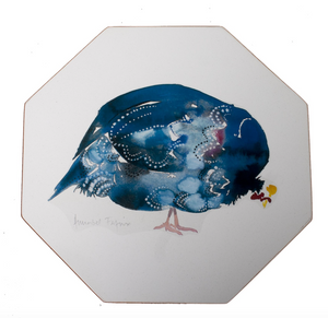 Octagonal Tablemats Set of 4 (boxed): Guinea Fowl