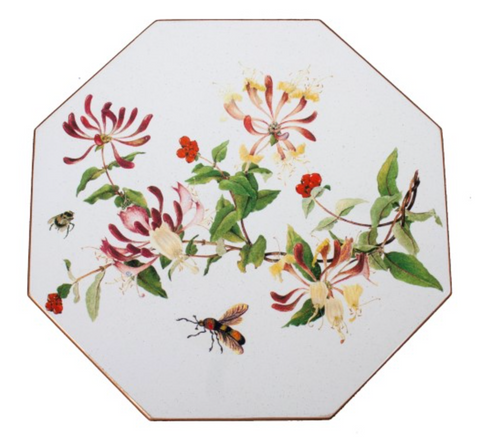 Octagonal Tablemats Set of 4 (boxed): Honeysuckle