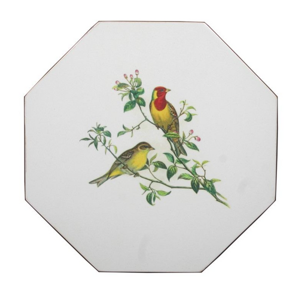 Octagonal Tablemats Set of 4 (boxed): Oriental Songbirds