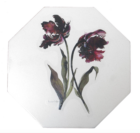 Octagonal Placemats Set of 4 (boxed): Parrot Tulip