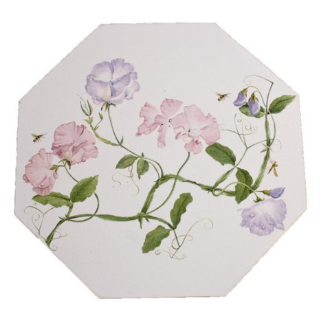 Octagonal Tablemats Set of 4 (boxed): Sweet Pea