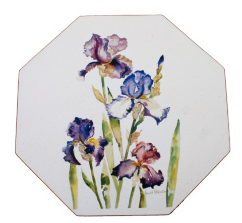 Octagonal Tablemats Set of 4 (boxed): Iris