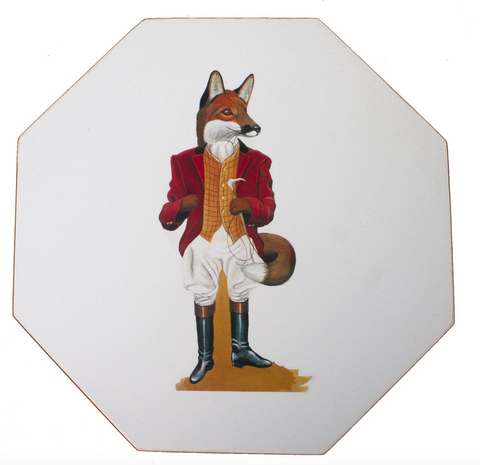 Octagonal Tablesmats Set of 4 (boxed): Fox