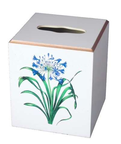 Square Tissue Box Cover: Agapanthus