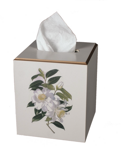 Square Tissue Box Cover: Camellia