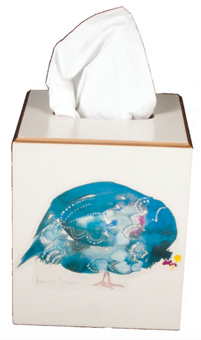 Square Tissue Box Cover: Guinea Fowl