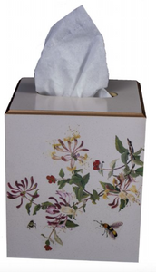 Square Tissue Box Cover: Honeysuckle