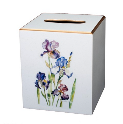 Square Tissue Box Cover: Iris
