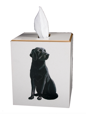 Square Tissue Box Cover: Labrador