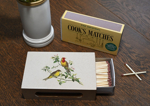 Standard Wooden Matchbox Cover with Matches: Oriental Songbirds