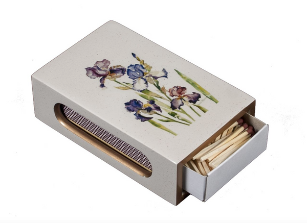 Standard Wooden Matchbox Cover with matches: Iris