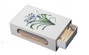 Standard Wooden Matchbox Cover with Matches: Agapanthus