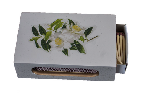 Standard Wooden Matchbox Cover with Matches: Camellia