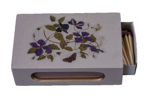 Standard Wooden Matchbox Cover with Matches: Clematis