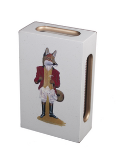 Standard Wooden Matchbox Cover with Matches: Fox