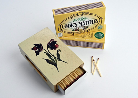 Standard Wooden Matchbox Cover with Matches: Parrot Tulip