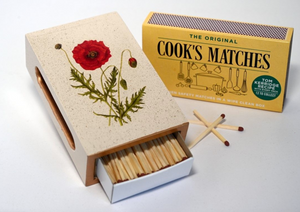 Standard Wooden Matchbox Cover with matches: Poppy