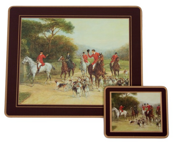 Traditional Continental Mats: Hunting x 4