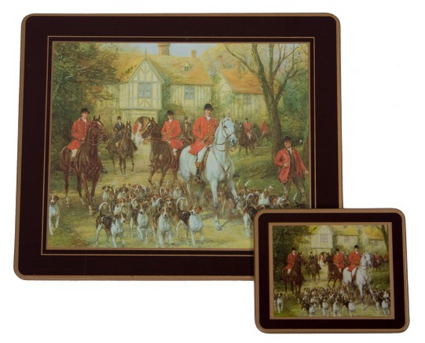 Traditional Table Mats: Hunting x 6