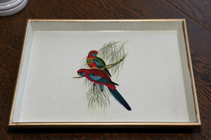 Vanity Tray: Pair of Parrots