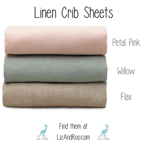 linen crib sheets by Liz and Roo