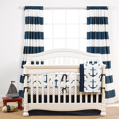 Nautical Anchors Crib Bedding