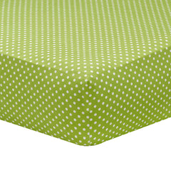 Dottie Crib Sheet in Green by Liz and Roo