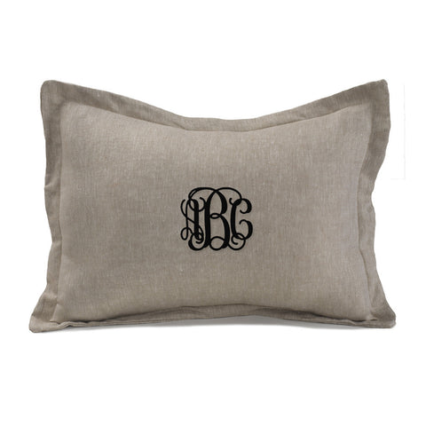 Flax Linen Monogrammed Baby Sham by Liz and Roo