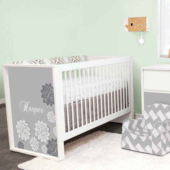 Liz and Roo's Easton Crib Bedding on Personalized Crib