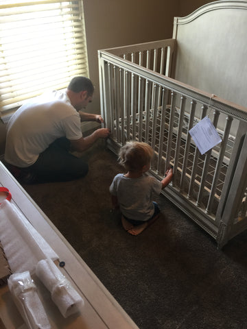 New Gray Crib for the Dream Nursery